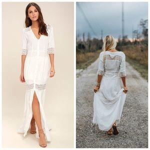 NWT AMUSE SOCIETY   last call boho maxi dress L